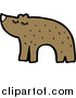 Pal Clipart of a Brown Bear Facing Left by Lineartestpilot