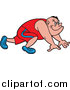 Pal Clipart of a Caucasian Male Sprinter at the Starting Line by LaffToon