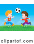 Pal Clipart of Boys Playing Soccer in a Field by Alex Bannykh