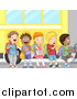 Pal Clipart of Diverse School Children Boarding a Bus by BNP Design Studio